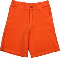 Apricot Kids Short For Boys Printed Polyster(Orange)