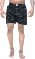 Clickroo Printed Mens Black Boxer Shorts
