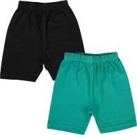 Lula Short For Girls Solid Cotton Linen Blend, Cotton Nylon Blend, Cotton Linen Blend(Black)