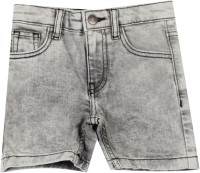 United Colors of Benetton. Short For Boys Cotton Nylon Blend(Grey)
