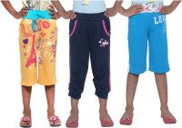 Menthol Short For Girls Printed Cotton(Yellow)