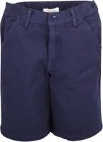 Apricot Kids Short For Boys Printed Polyster(Dark Blue)