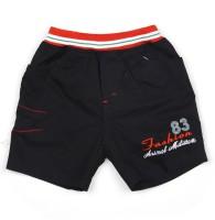AJ Dezines Short For Boys Self Design Cotton Linen Blend, Nylon Blend(Black, Pack of 1)
