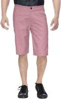 Clickroo Solid Mens Pink Chino Shorts