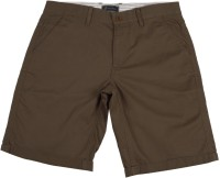 Indian Terrain Short For Boys Solid Cotton Modal Blend(Brown)