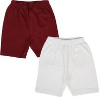 Lula Short For Girls Solid Cotton Linen Blend, Cotton Nylon Blend, Cotton Linen Blend(Maroon)