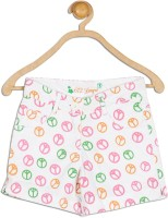 612 League Short For Girls Printed Cotton(White)