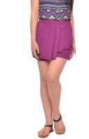 Vvoguish Solid Women's Purple Basic Shorts