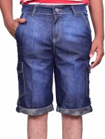 British Terminal Self Design Men's Blue Bermuda Shorts