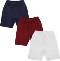 Lula Short For Girls Solid Cotton Linen Blend, Cotton Nylon Blend, Cotton Linen Blend(Blue)