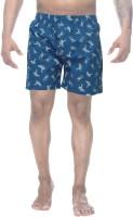Clickroo Printed Mens Blue Boxer Shorts