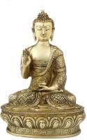 StatueStudio Brass Buddha Sitting On Base Showpiece  -  33 cm(Brass, Gold)