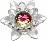 Vashoppee Vastu Art Vastu / Feng Shui / Crystal Lotus Showpiece  -  6 cm(Glass, White)