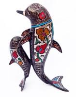 Folkshopz Stylo Decorative Showpiece  -  28 cm(Brass, Multicolor)