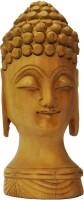 Krishak Mahatam Buddha Showpiece  -  12 cm(Wooden, Gold)