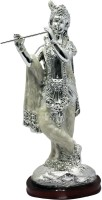 Art N Hub lord Krishna Makhan Chor Shri Krishan Idol God Statue Gift item Decorative Showpiece  -  19 cm(Silver Plated, Silver)