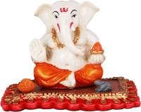 The Nodding Head Modak Ganesha On Base Decorative Showpiece  -  8 cm(Polyresin, Multicolor)