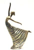 X-Gift Aramani dancing lady Decorative Showpiece  -  32 cm(Polyresin, Multicolor)