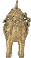 Vidushi Dhokra Art Bell Metal Showpiece  -  14 cm(Alloy, Yellow)