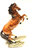 X-Gift Aramani Horse for office table and home Decorative Showpiece  -  34 cm(Polyresin, Multicolor)