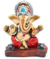 The Nodding Head Beautiful Crown Ganesha Decorative Showpiece  -  7.5 cm(Polyresin, Multicolor)