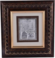 Siri Creations 999 Pure Mosque With Wooden Frame Decorative Showpiece  -  20 cm(Silver, Silver)