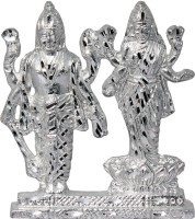 Art N Hub Goddess lakshmi / Laxmi & Lord Vishnu Idol God Statue Gift Item Decorative Showpiece  -  9 cm(Aluminium, Silver)