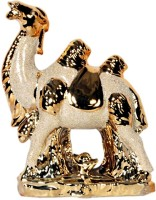 Orchard Decorative Showpiece  -  15 cm(Ceramic, Gold)