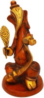 StatueStudio Writing Ganesha Art Showpiece  -  27.94 cm(Brass, Red)