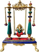 Brass Gift Center Ganesh Jhula Brass Statue Stone Finish Showpiece  -  40 cm(Brass, Multicolor)