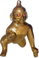 Uncommon Stuffs Bal Gopal (Krishna) Idol Showpiece  -  10 cm(Brass, Gold)