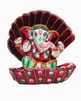 Dekor World Colorful Ganesha Showpiece  -  9 cm(Iron, Multicolor)