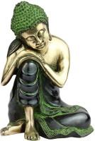 StatueStudio Buddha Showpiece  -  22.86 cm(Brass, Gold)