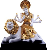 Saanvi Creations Showpiece  -  36 cm(Polyresin, White, Gold)