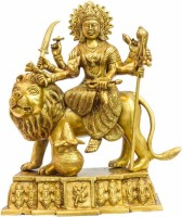 StatueStudio Durga Golden Showpiece  -  33 cm(Brass, Multicolor)