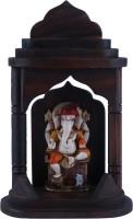The Nodding Head Mandir Ganesh Decorative Showpiece  -  19 cm(Polyresin, Multicolor)