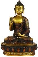 StatueStudio Buddha Showpiece  -  33 cm(Brass, Red)