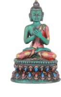 The Nodding Head Lord Buddha In Padmasana Decorative Showpiece  -  9 cm(Polyresin, Multicolor)
