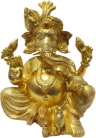 Brass Gift Center Ganesh Statue in Super Fine Finish Showpiece  -  27 cm(Brass, Yellow)