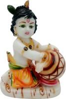 Art N Hub Marble look Hindu God Shri Krishan Statue lord Krishna idol Makhan Chor Decorative Showpiece  -  19 cm(Ceramic, Multicolor)