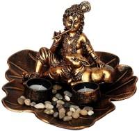 Orchard Bal Krishna Decorative Showpiece  -  15 cm(Polyresin, Gold)
