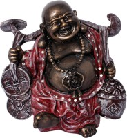 Art N Hub Fengshui God Laughing Buddha Vastu Statue Home Décor Gift Item Decorative Showpiece  -  25 cm(Earthenware, Multicolor)