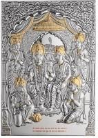 Momentz Ram Darbar Showpiece  -  29 cm(Silver Plated, Silver)