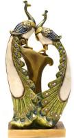 X-Gift Aramani peacock couple Decorative Showpiece  -  40 cm(Polyresin, Multicolor)