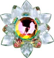 Vashoppee Vastu / Feng Shui / Crystal Lotus Showpiece  -  6 cm(Glass, White)
