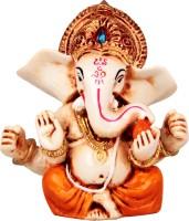 The Nodding Head Glowing Lord Ganesha (Orange) Decorative Showpiece  -  8.5 cm(Polyresin, Multicolor)