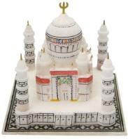 Pooja Creation White Marble Tajmahal Decorative Showpiece  -  15 cm(Stoneware, White)