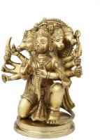 StatueStudio Panchmukhi Hanuman Showpiece  -  25.4 cm(Brass, Gold)