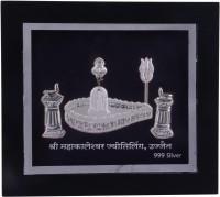 Siri Creations 999 Pure Silver Shiva Linga Acralyic Frame Decorative Showpiece  -  15 cm(Silver, Silver)