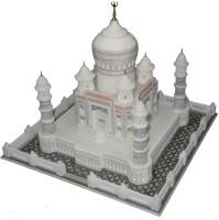 Pooja Creation Taj Mahal In Orignal Shape And Full Size Decorative Showpiece  -  32.5 cm(Stoneware, White)